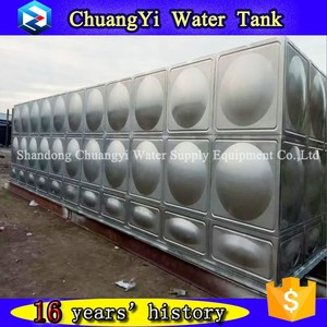Alibaba High Strength stainless steel square water tank ,rectangular stainless steel tank, stainless steel sectional water tank