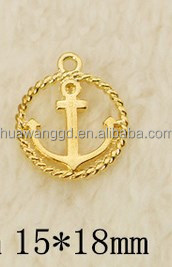 New design special gold anchor pendant for key ring,necklace,bracelet