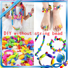 2017 DIY fun toys beads jewelry maker plastic gift for girl