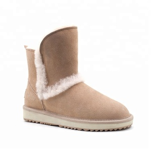 Soft Winter Warm Ladies Genuine Leather Cow Suede Boots