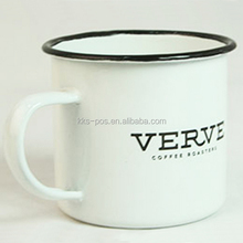 white bulk enamel customized mugs