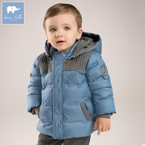 deaa1335b5f0 DB5615 dave bella winter infant baby boys down jacket children white duck  down padded coat kids blue hooded outerwear