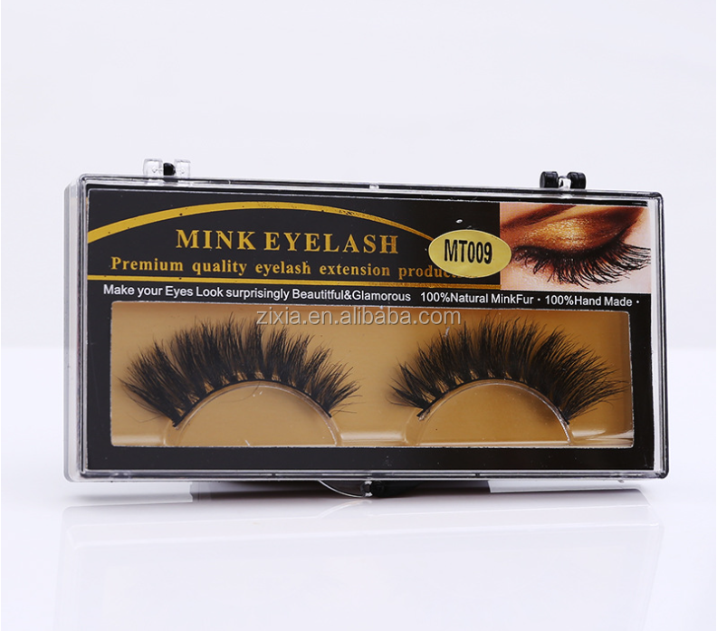 2017 Wholesale alibaba pure hand made 100% real horse hair eyelashes with 3mm to 5mm length