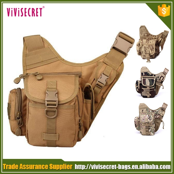 Outdoor leisure camo tactical military army saddle bag