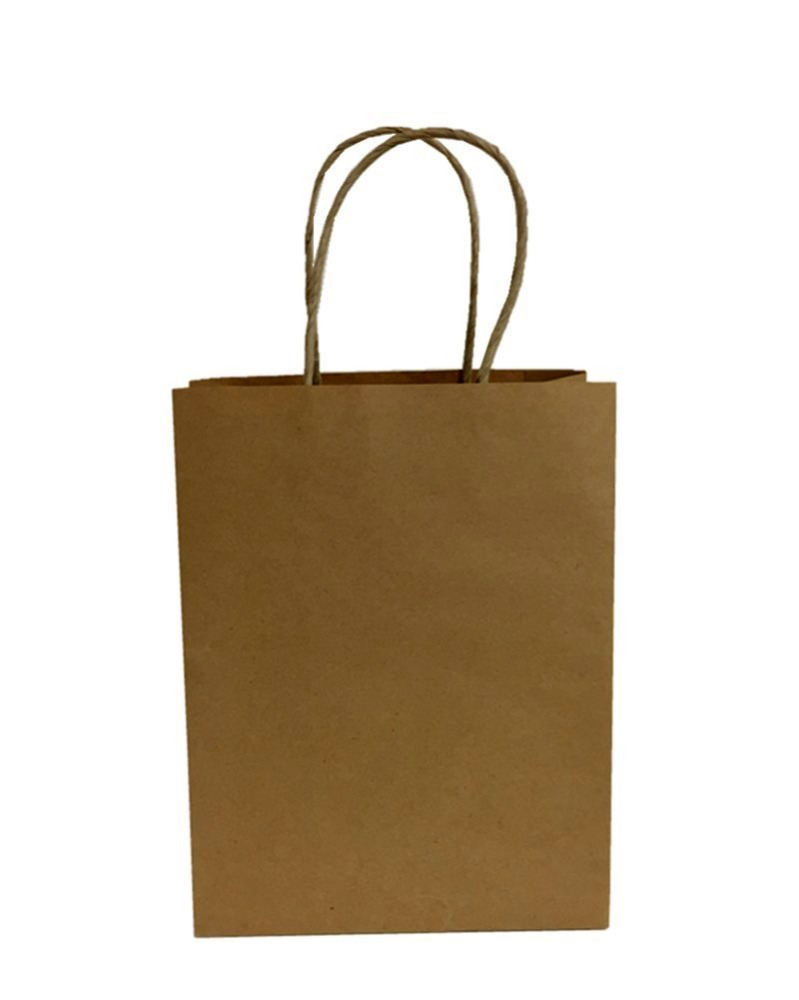 Kraft paper shopping gift bag/kraft paper carrier bag/paper reticule bag