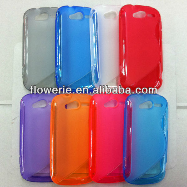 FL2327 2013 Guanghzou wholesale soft s line tpu back cover case for HTC MyTouch 4G Slide