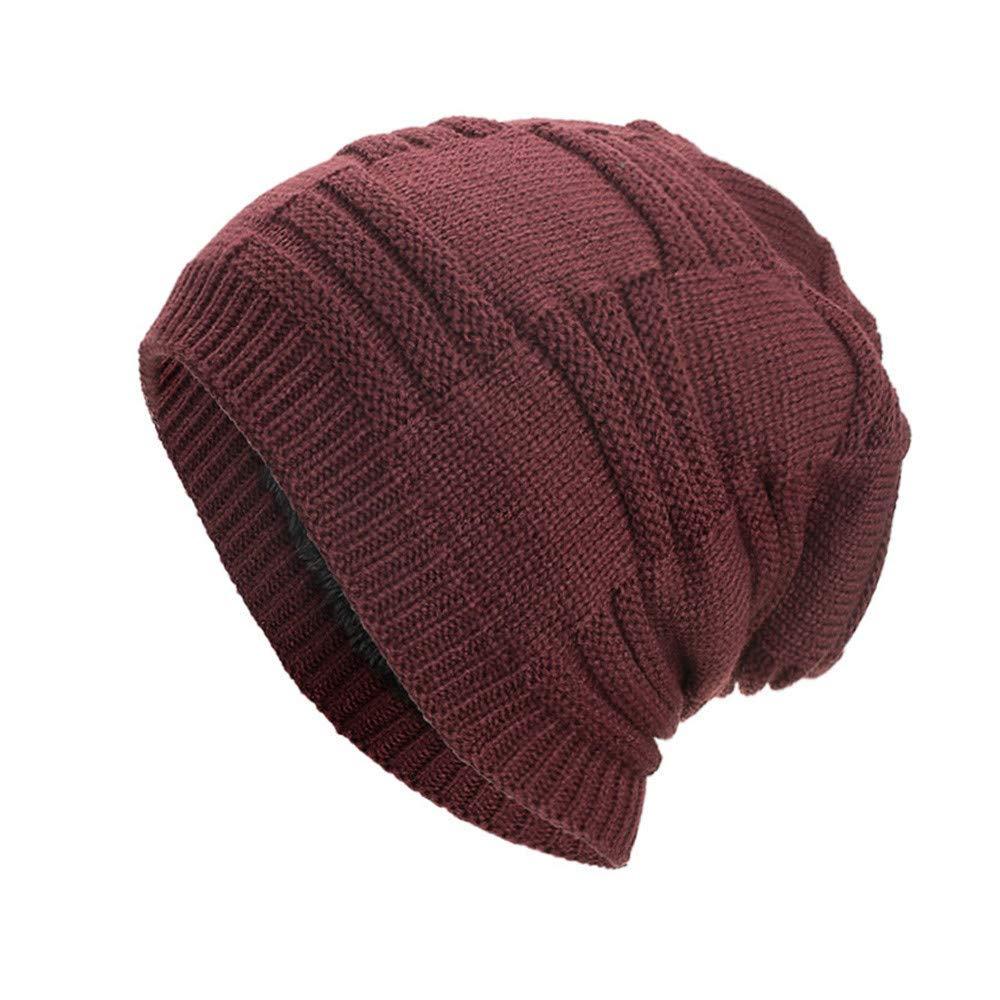 fa710d66890 Get Quotations · Clearance DEATU Hat Women Men Warm Baggy Weave Crochet  Unisex Winter Knit Ski Beanie Skull Caps