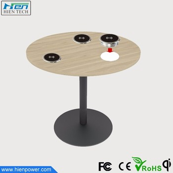 Table Furniture Embedded Qi Charger Wireless Charging Smart Office Desk Use