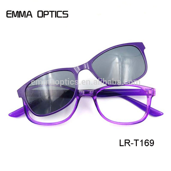 Customized logo cheap magnet reading glasses sun reader clip on sunglasses for women