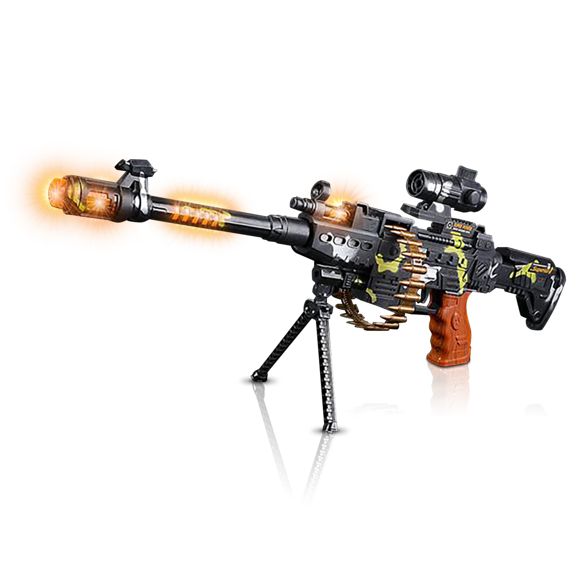 """Toy Machine Gun with Scope, Stand & Carrying Strap by ArtCreativity 
