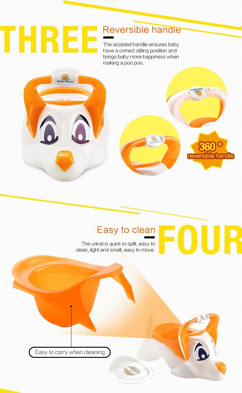 2017 Cina Desain Baru Pp Plastik Potty Training Seatbayi Toilet Seat Balita With Handle Bayi Duduk