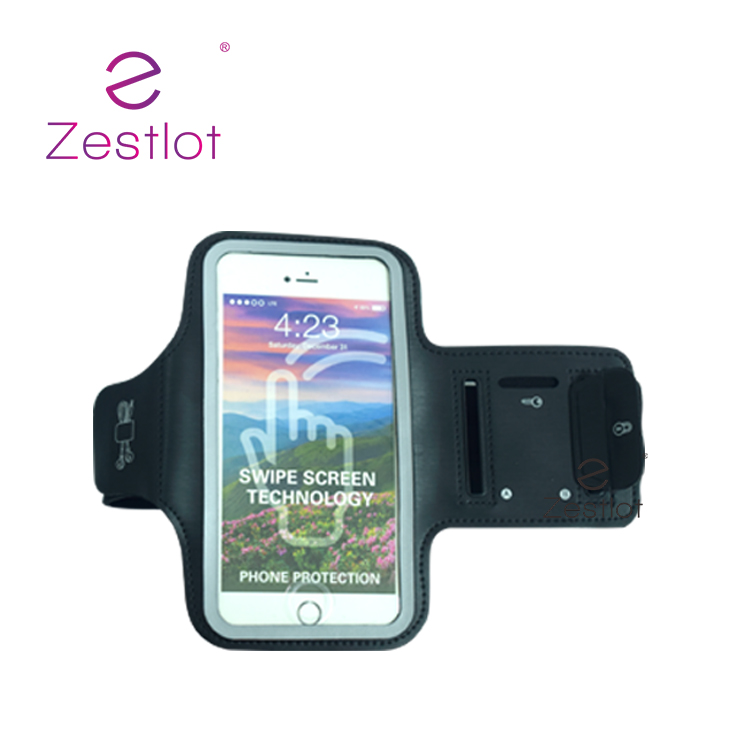 Armband Cellphone Black Cell Phone Case Fabric Leather Led Running Safety Arm Band