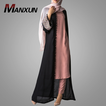 Abaya Designs Latest Fashion Style Muslim Women Clothing High Quality Embroidery Islamic Front Open Abaya Online