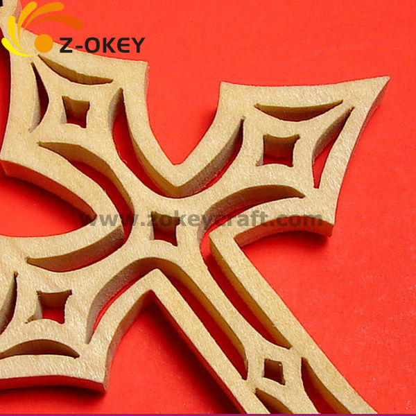 new fashion Laser cut wooden cross hanging pendant Yiwu hot sale