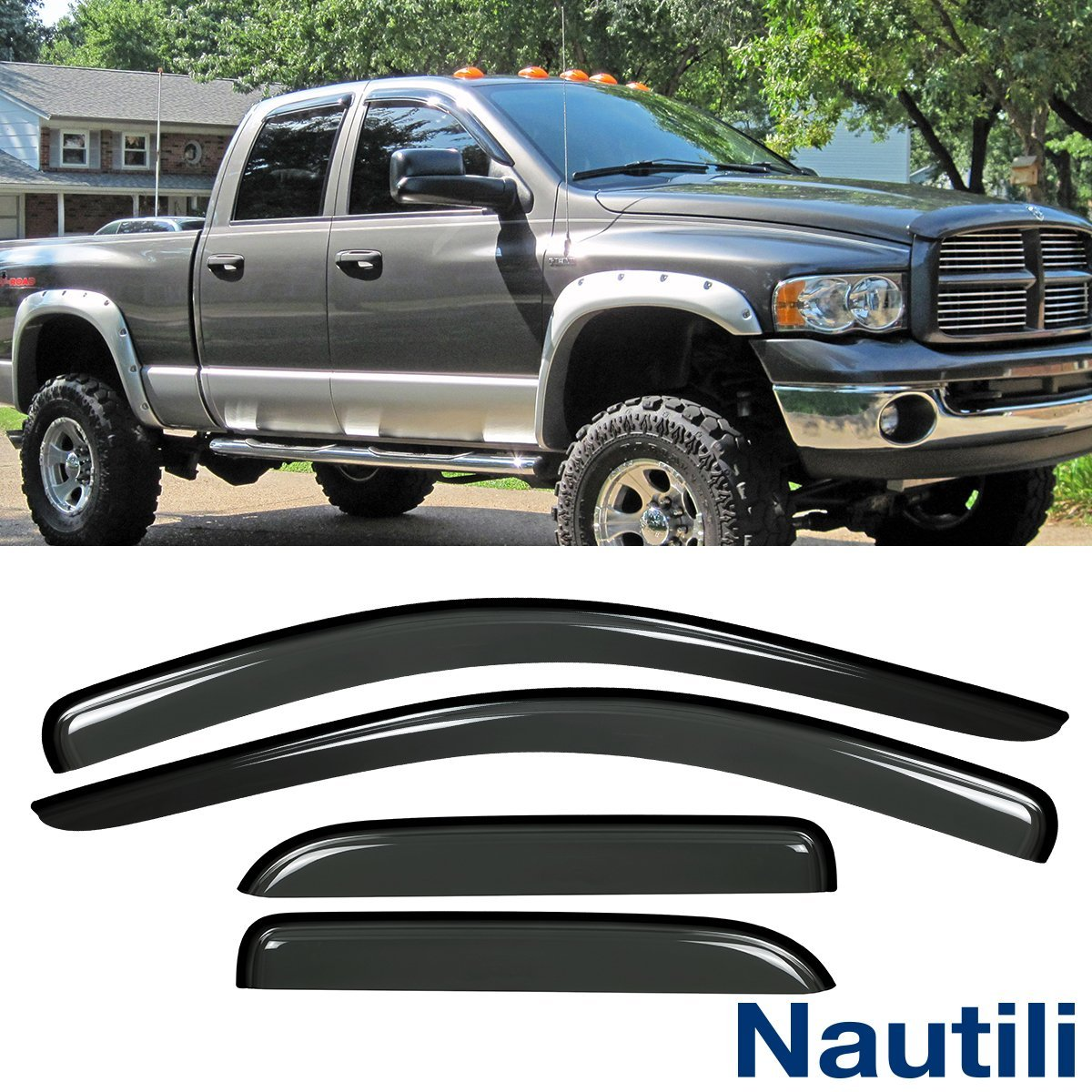Get Quotations · Laprive Auto 4pcs Side Window Deflectors Window Visors for  02-08 Dodge Ram 1500  b186867fa36