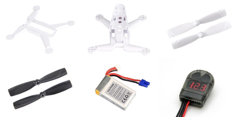 Walkera Rodeo 150 [QTY: 1] 150-Z-27 Li-po Battery 7.4V 850mAh 25C 2S Power [QTY: 1] 150-Z-02(W) Fuselage White Body Frame [QTY: 1] Lipo Alarm Low Voltage Tester Buzzer 2-8S Li-Po LiFe Li-ion Volts Bat