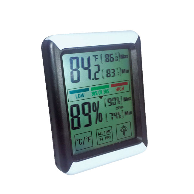 Touchscreen-Haushalt max. Thermo-Digital-Thermometer-Hygrometer
