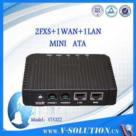 1WAN+1LAN+2FXS ATA VoIP Adapter SIP ATA Analog Telephone Adapter compatible with HUAWEI/ZTE/Alcatel-Lucent Call Agent