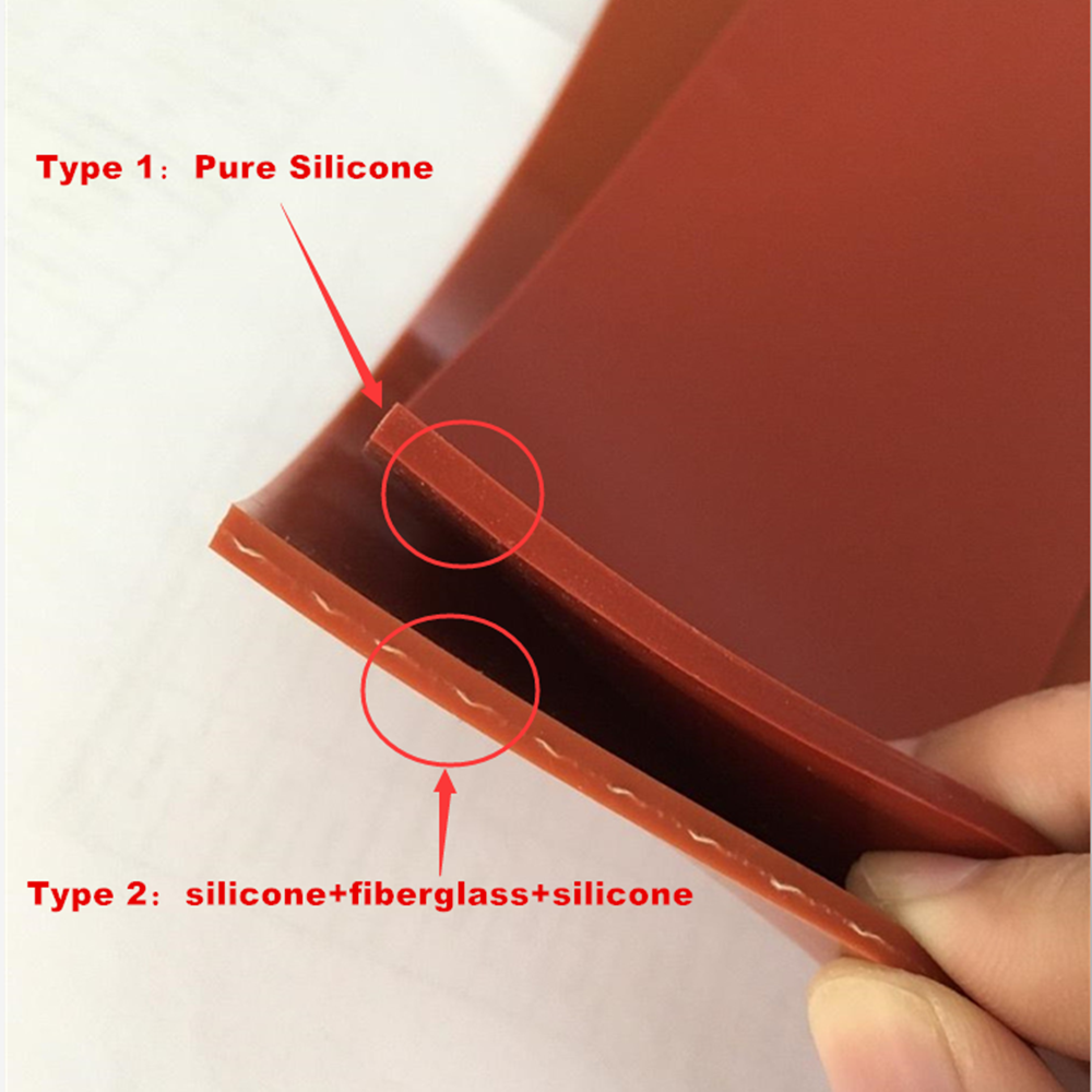 0.5*500*500mm Translucent Silicone Membrane Heat Resistant Rubber Sheet