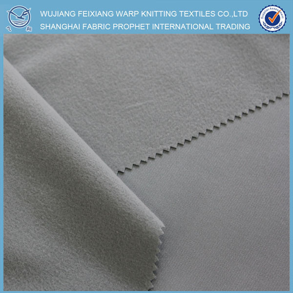 China direct textiles factory 100 polyester brushed tricot fabric,brushed super poly fabric,micro shiny fabric wholesale