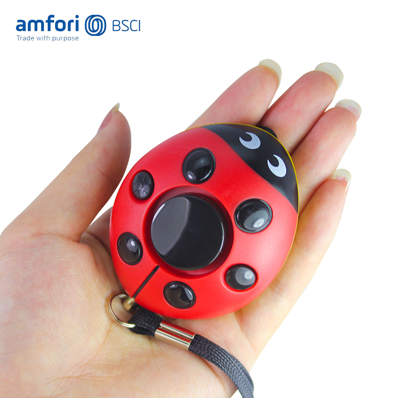 Classic ladybug personal <strong>alarm</strong> keychain with LED flashlight Personal <strong>Alarm</strong> Keychain Women Self Defense panic <strong>Alarm</strong>