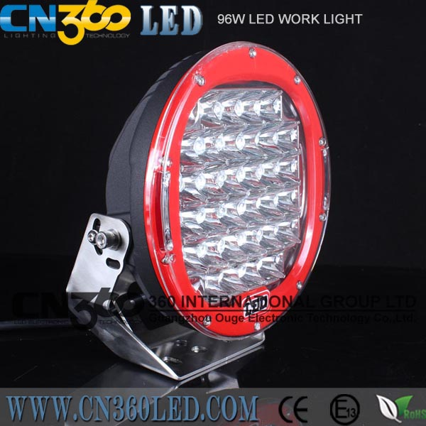 42PCS 3w ROUND Black,White 96W best LED WORK LIGHT SPOT BEAM OFFROAD DRIVING LIGHTS 12V 24V 4WD