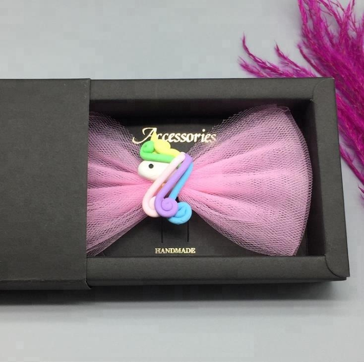 Baby <strong>Hair</strong> <strong>Accessories</strong> Sweet Cute Mesh Bow Fantasy Unicorn Hairpin Girl Hairpin Headband