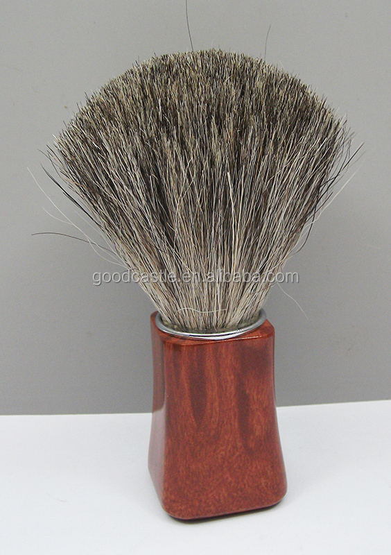 rose wood silvertip pure badger hair shaving brush mens grooming