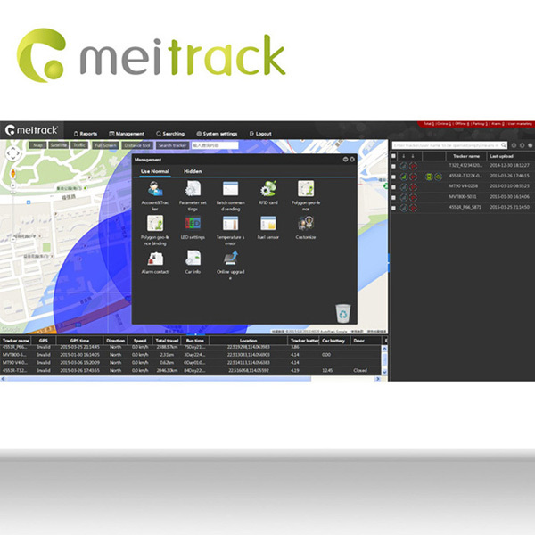 Meitrack gps tracking software platform car tracker with function of reporting positions please visit ms03.meiligao.com