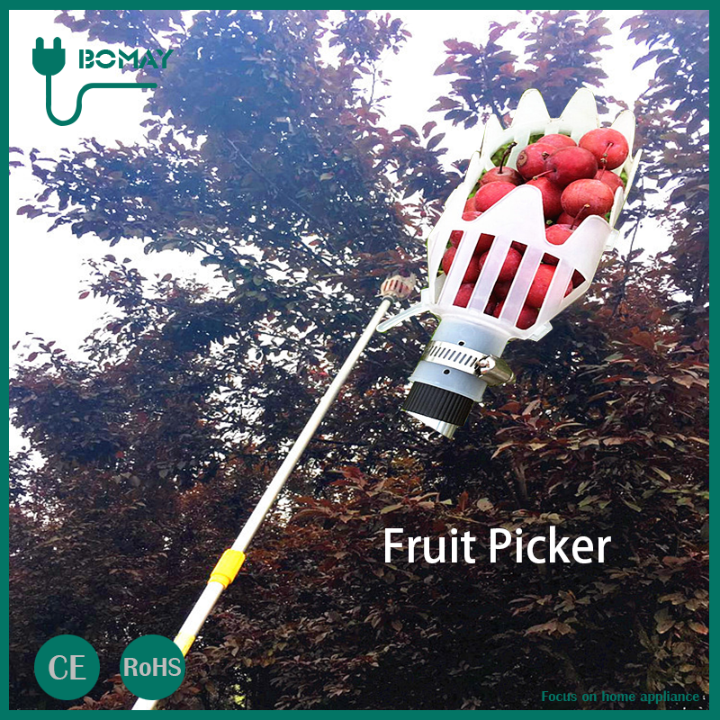manual fruit picking long handle folded garden tools telescopic fruit picker