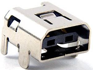 SBOS® USB Socket Port Connector Replacement Part For Wii U WiiU Gamepad Controller Charging Port