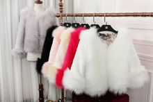 Autumn and winter imitation fox fur vest / jacket in the long section of women