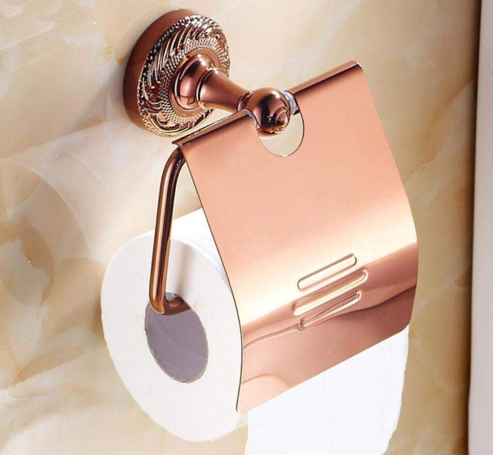 All Door-Roll Of Paper Bronze Gold Door Pink-Paper Napkins Toilet Paper Holder Of European Style Paper Material Bains Pink Gold Pendant,Of The Chassis
