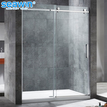 Modern House Bathroom Frameless Sliding Glass Shower Door Shower