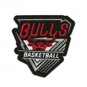 Excellent quality bulls team felt embroidered shoulder badges