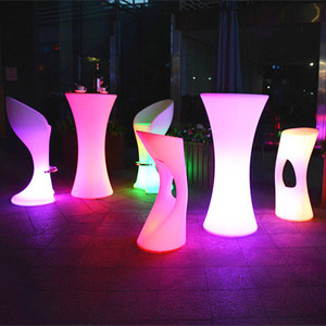 Modern New Glowing Furniture LED Lounge Coffee Light up Table for wholesales