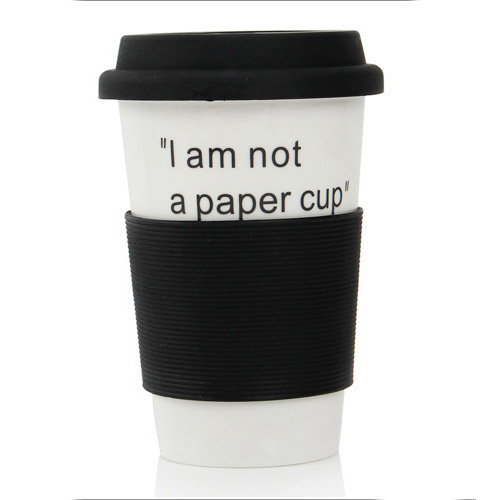 Zogift sublimation custom double walled ceramic tumbler porcelain take away coffee <strong>cups</strong> travel mug with silicone lid