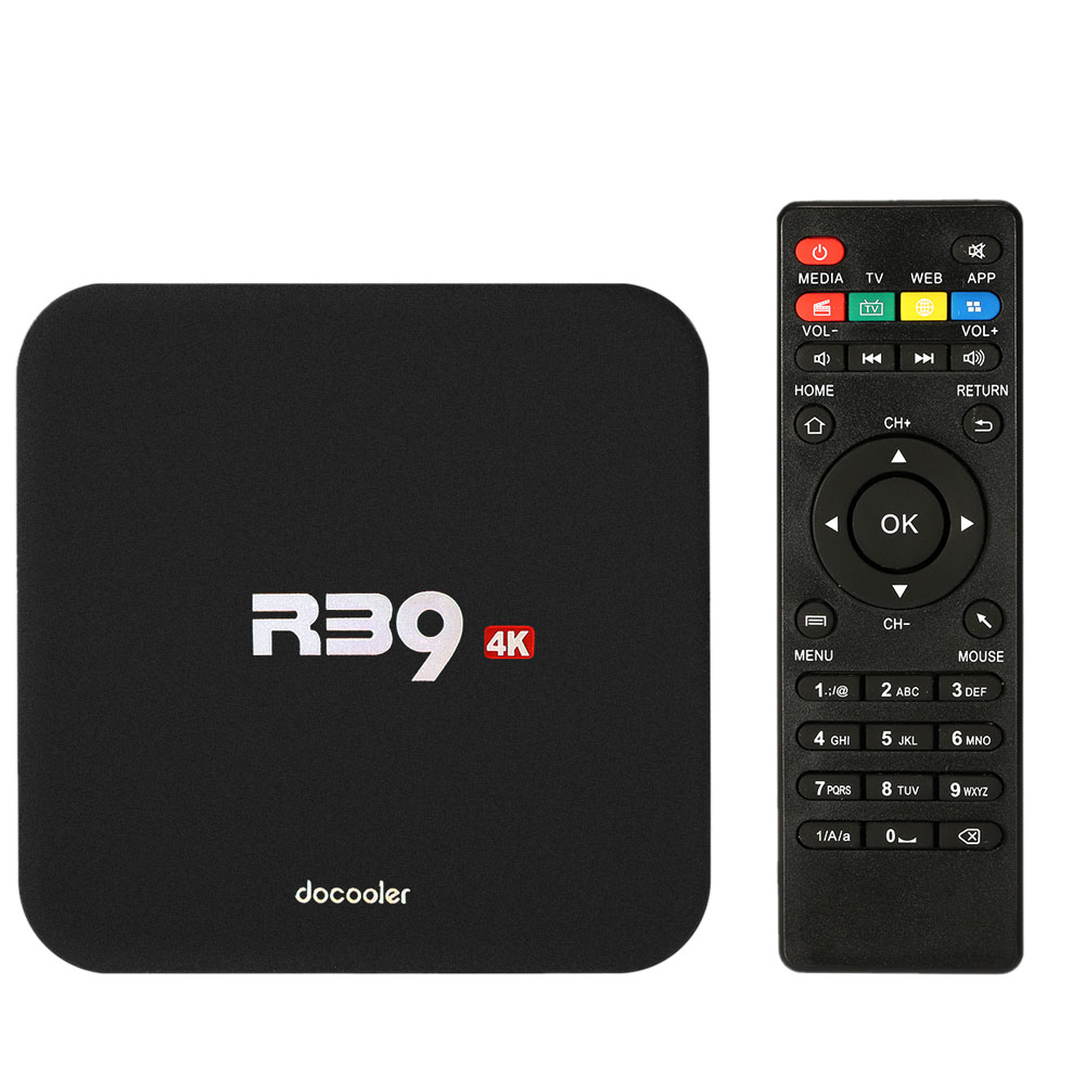 Docooler R39 Smart <strong>Android</strong> 5.1 <strong>TV</strong> <strong>Box</strong> Quad Core KODI 16.1 4K 1G / 8G Mini PC WiFi H.265 DLNA AirPlay Miracast Media Player V2300