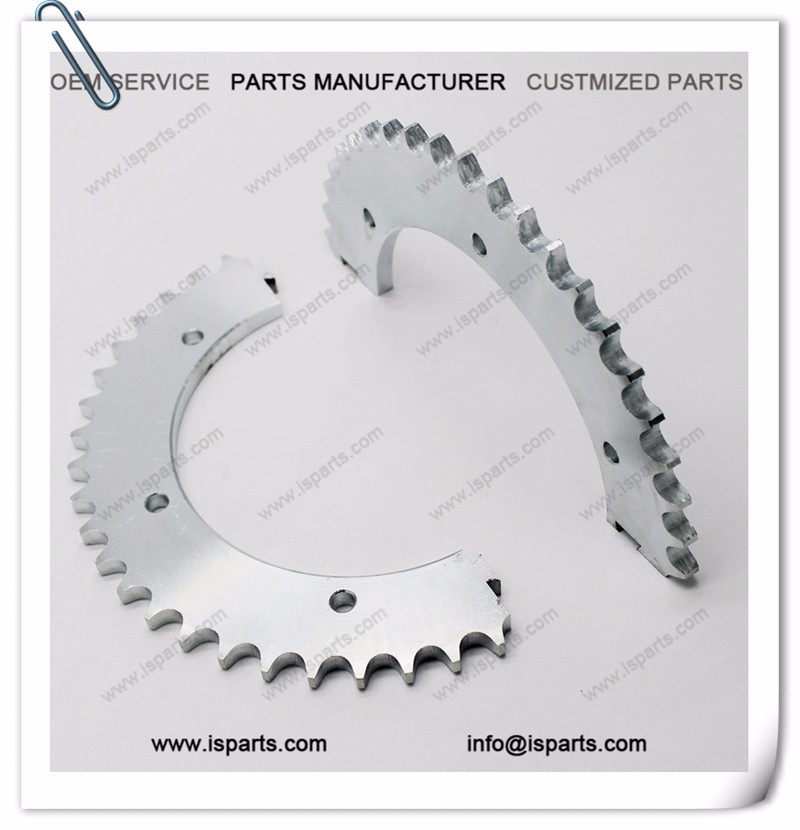 44T split sprocket with #428 chain sprocket for kart racing