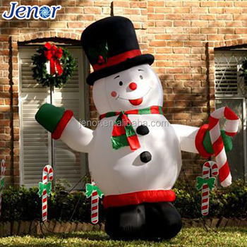 Fat Christmas Inflatable Snowman For Yard Decoration