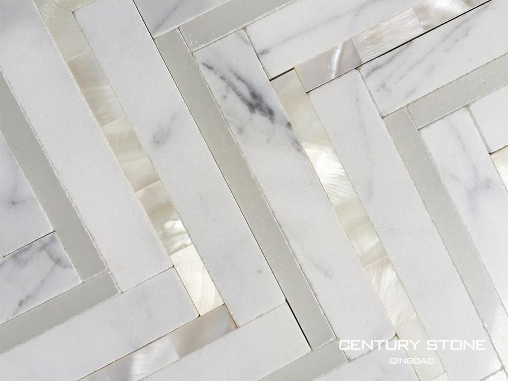 A buon mercato chevron bagno in marmo piastrelle per pavimenti ...