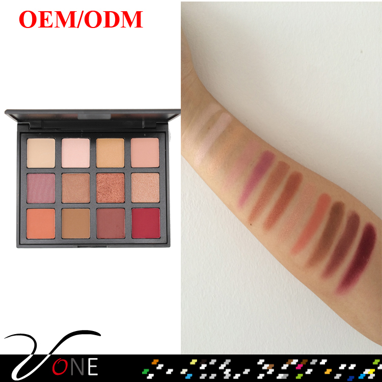 best selling products cosmetics makeup private label eyeshadow palette with highpigment shimmer colors for naked makeup