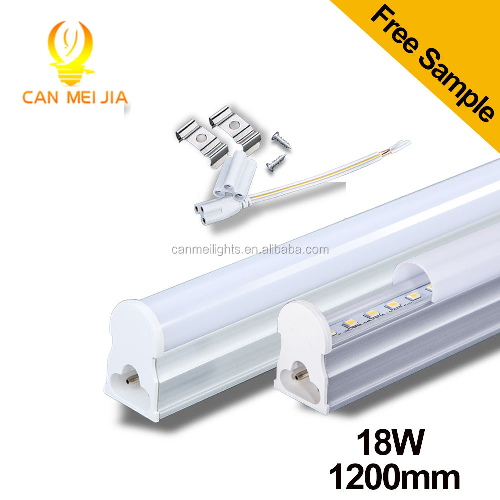 Wholesaler AC85-265V 1200mm 4ft 1400LM 18W T5 led Iintegrated tube light lamps for home