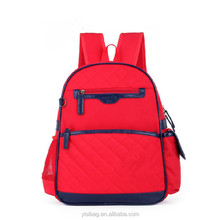 designer red quilted kid backpack