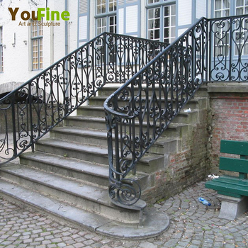 Home Decorative Outdoor Wrought Iron Stair Railings