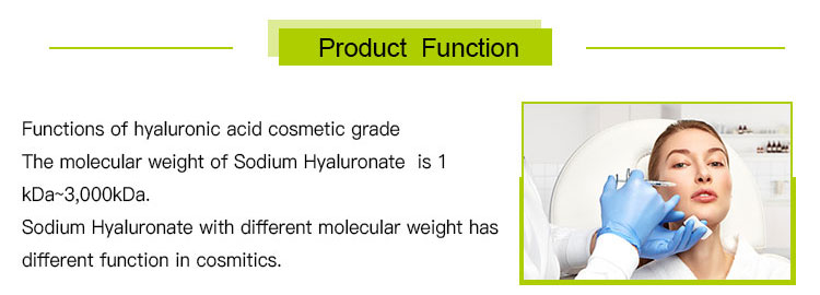 High quality raw material Hyaluronic acid, CAS 9004-61-9