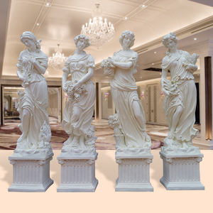 Manufacturers Wholesale Outdoor Home Garden Life Size Angell Fiberglass Goddess four Seasons Statue