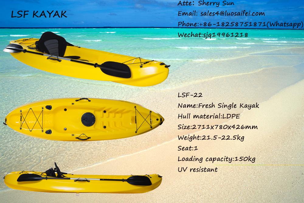 Sit On Top Tandem Kayak / Plastic Canoe / boat for Sale