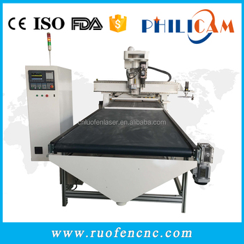 China ATC cnc wood machinery for furniture cabinets with vacuum table