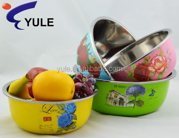 22cm 201stainless steel kitchen item bowl with lid